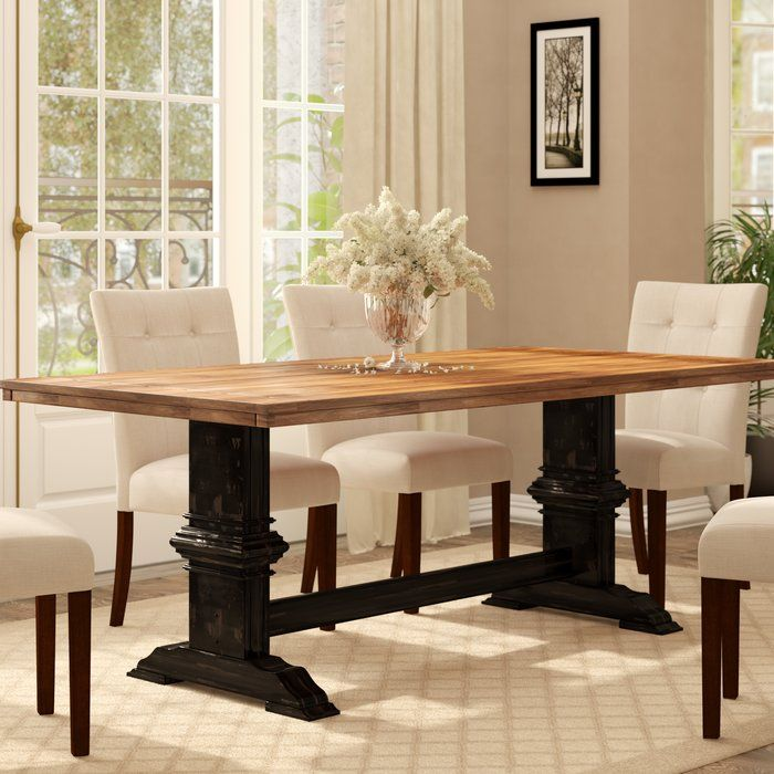Fortville Solid Wood Dining Table Dining Table In Kitchen Solid