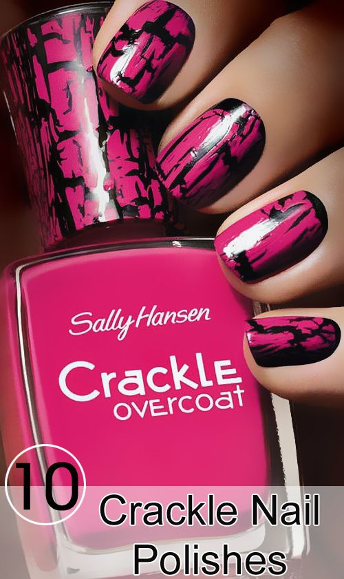 crackle nail polish: Check out a few cool crackle or shatter nail polishes that you will love for sure.
