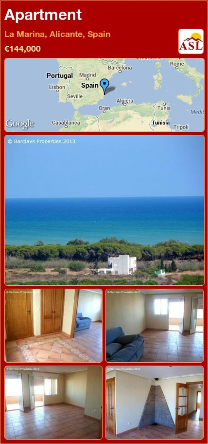 Apartment in La Marina, Alicante, Spain ►€144,000 #PropertyForSaleInSpain
