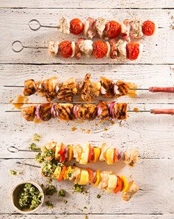 Three types of kebabs to try on Easter