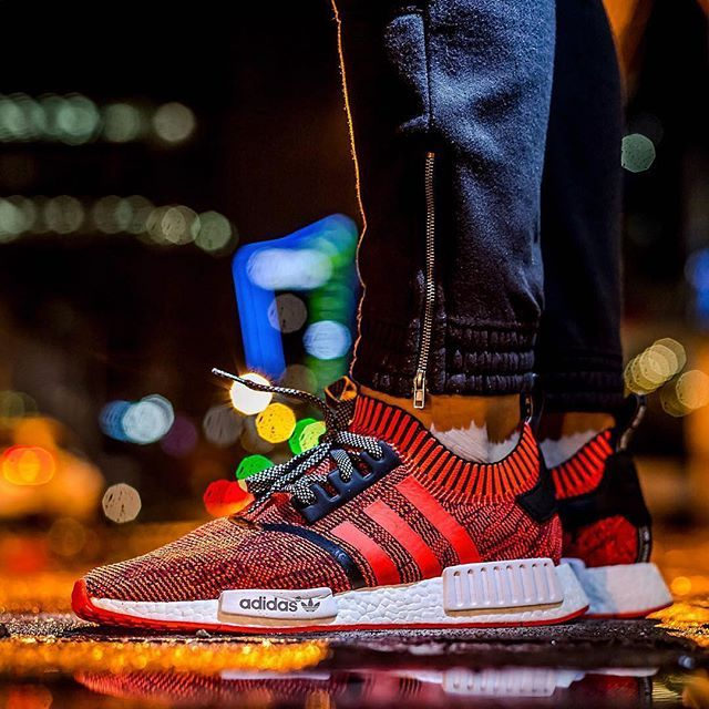 Adidas NMD  Red Apple  📷   jeyr3  WDYWT for on-feet photos  WDYWTgrid for  outfit lay down photos •  a31453f4d