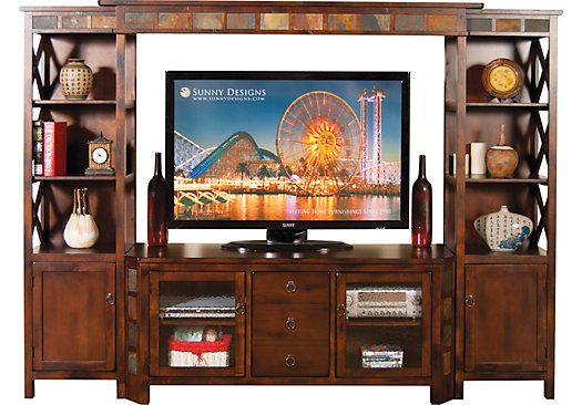 Oliver 4 Pc Wall Unit For The Home Entertainment Center