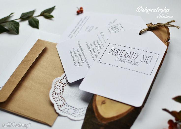 Zaproszenie ślubne brissa zaproszenia nietypowe niestandardowe nowoczesne składające się trzech