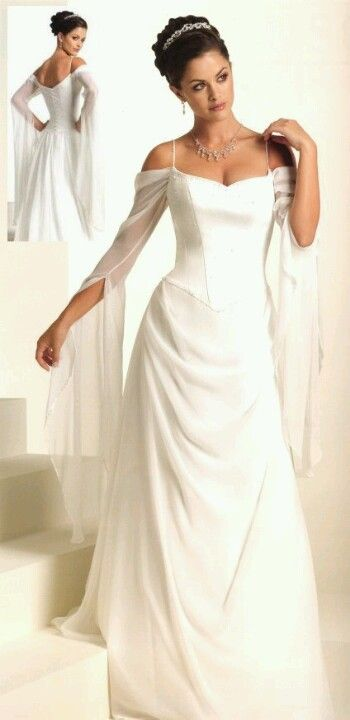 Reminiscent of medieval dress. This is the closest I have come to finding my future wedding dress!
