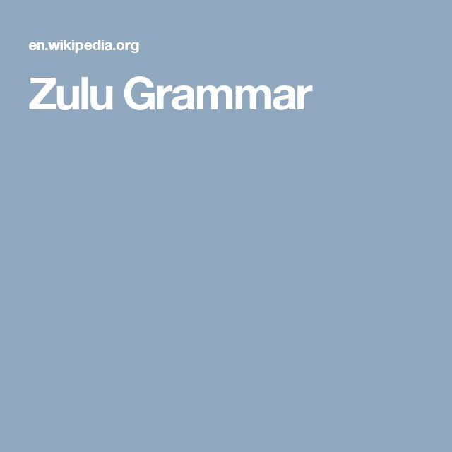 Zulu Grammar