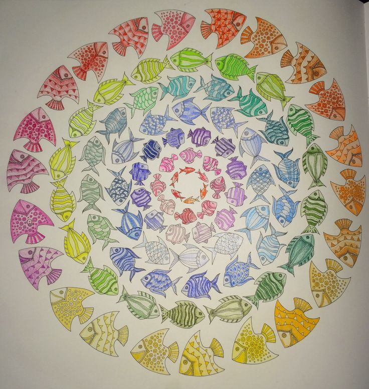 1000 images about coloring book lost ocean on pinterest for Colorful fish book