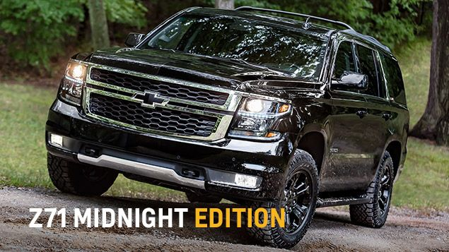 2017 Tahoe SUV Design: Z71 Midnight Edition at Chevrolet Cadillac of Santa Fe. www.chevroletofsantafe.com