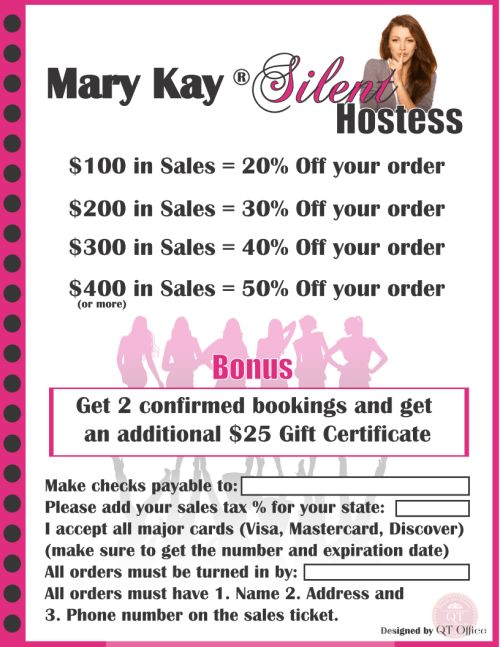 Mary Kay® Silent Hostess Flyer With 15 more shopping days until #Christmas - I can still help you with your last minute gifts. MS1ROBERTS@MARYKAY.COM  www.Marykay.com/Ms1Roberts  940-595-5024  Merry Christmas & Happy New Year