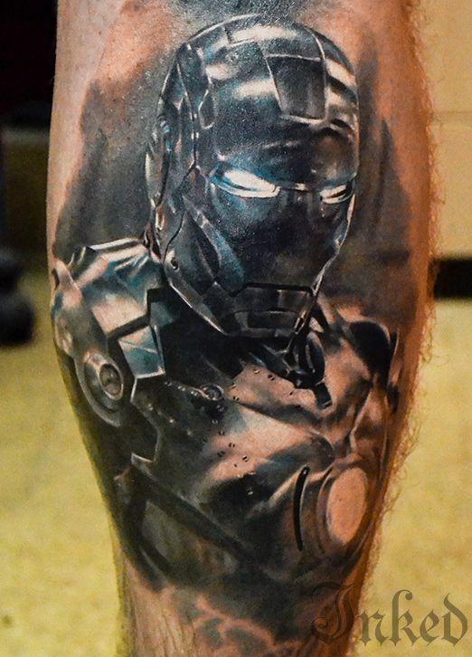 Alex Noir #InkedMagazine #tattoo #IronMan #art #movie