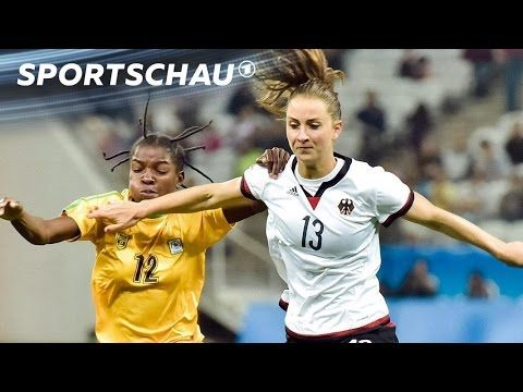Fußball: DFB-Frauen schlagen Simbabwe | Rio 2016 | Sportschau - YouTube
