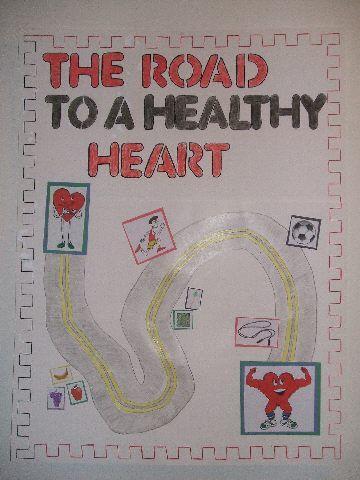 mental health bulletin board ideas   Road to a Healthy Heart Image