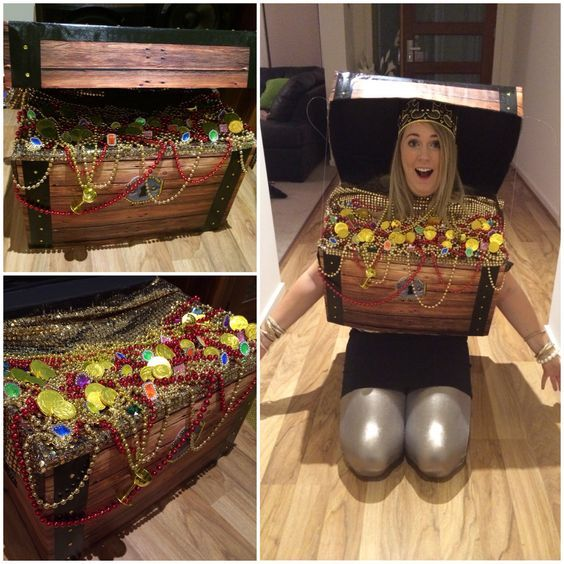Image result for adult treasure chest costume