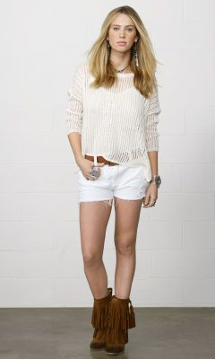 Vail Boyfriend Cutoff Short - Denim & Supply Shorts & Skorts - Ralph Lauren UK
