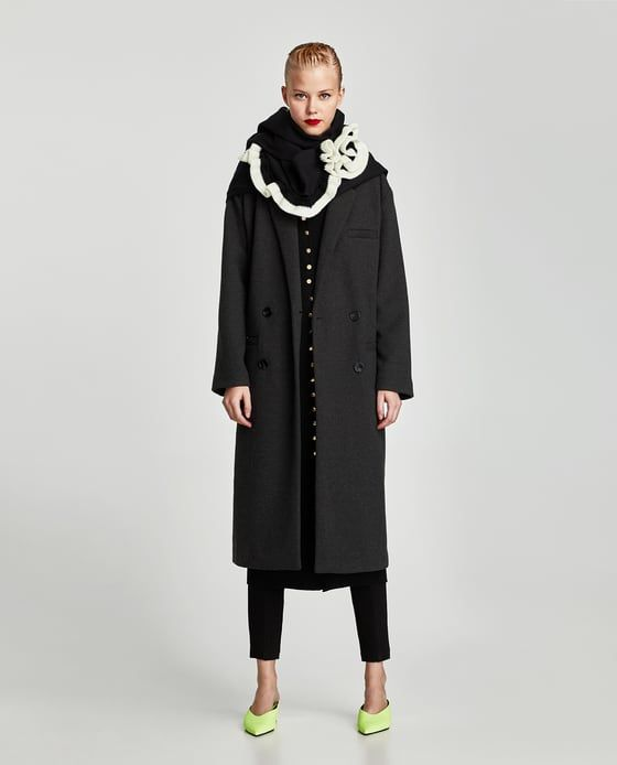 Image 1 of DOUBLE-BREASTED COAT from Zara