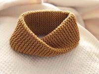 Cuello de lana para bebés Agujas y lana 5mm