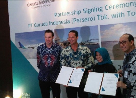 JAKARTA (BeritaTrans.com) - The mutually beneficial cooperation between Garuda Indonesia and Australia airlines is extended, after the initial cooperation that began in 2016 has ended.  In cooperation yesterday, Garuda successfully memgangkut 521.142 passengers period September 2016-June 2017.   #cargonews #garudaindonesia #indonesianews