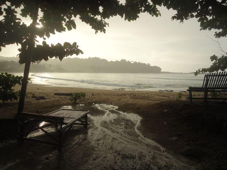 Sunrise at Sawarna, west Java