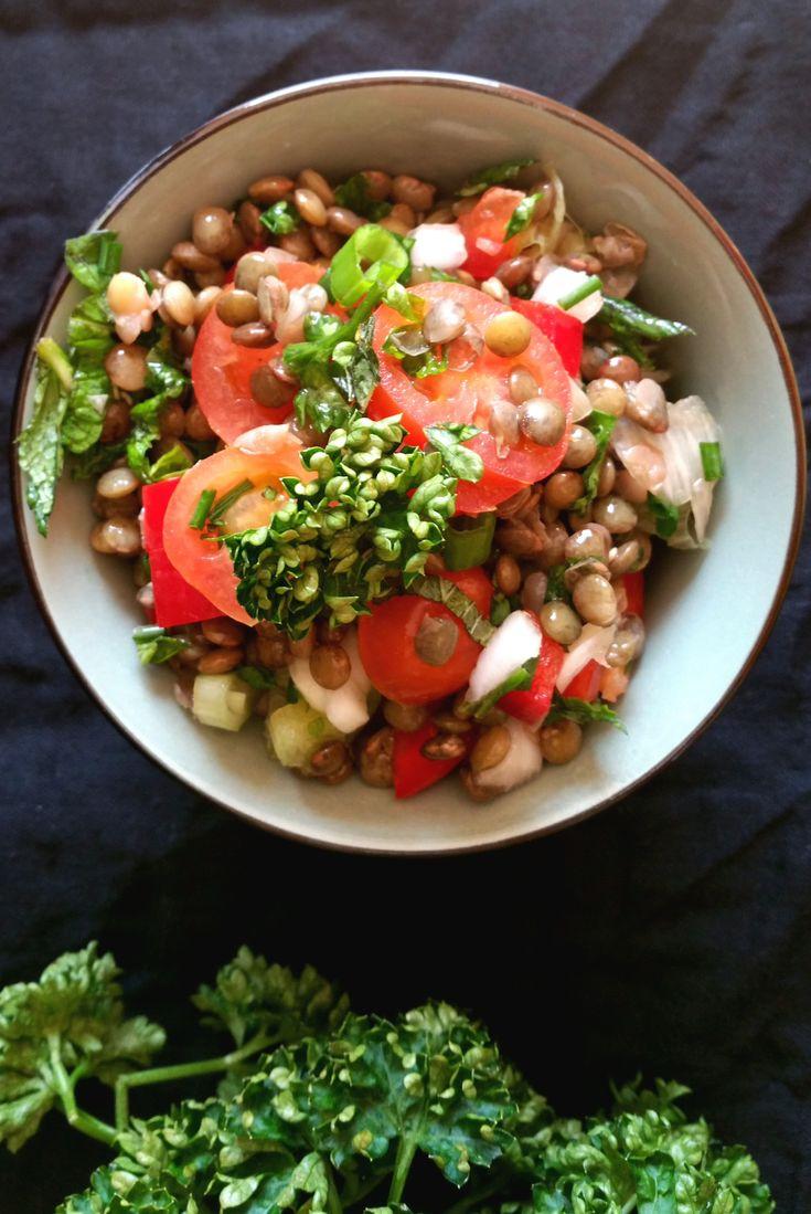 Une envie de salade de lentilles aux herbes aromatiques