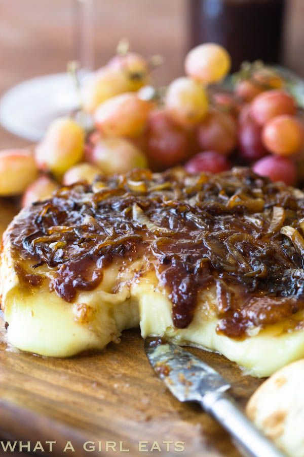 Obsessing All Over Again…Brie with caramelized onions and fig jam