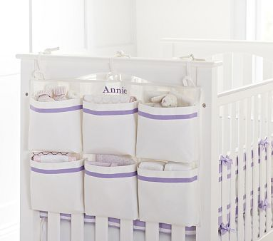 End of Crib Storage. Want! So much easier than trying to get stuff from under the crib. #PotteryBarnKids