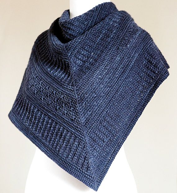 TUNISIAN CROCHET PATTERN: Winter Nocturne Shawl pdf - I'm not usually big on ponchos or capelets, but this one appeals to me somehow.