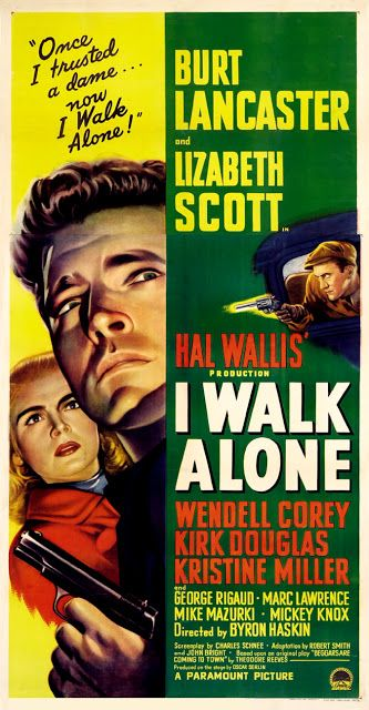 Film Noir Movie Posters | Film Noir Movie Posters: BURT LANCASTER