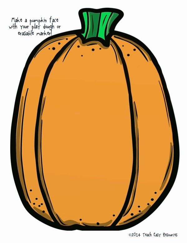 Classroom Freebies Too: FREE Set of Pumpkin Mats - Use with Play dough or ...