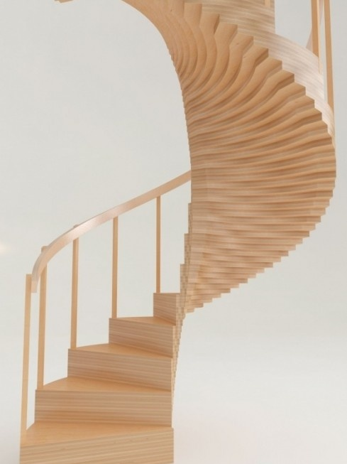 A Concept Timber Spiral Staircase From Eestairs Stairs