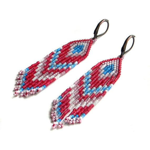 Hey, I found this really awesome Etsy listing at https://www.etsy.com/listing/189325529/small-beaded-dangle-earrings-beadwork