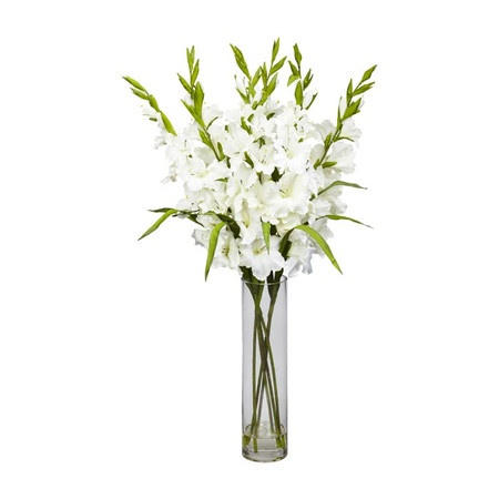 13 best silk flowers in glass vase images on pinterest silk silk gladiola arrangement in a clear glass vase product faux floral arrangement construction material mightylinksfo Images