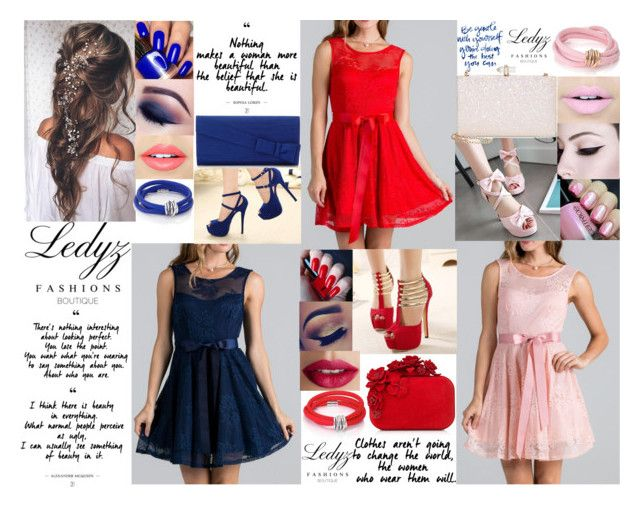 Red dress, white dress and blue dress by biebergirl1013 on Polyvore featuring polyvore fashion style....  We love to see how Ledyz Fashions fans use our dresses and gowns in their fashion sets. Beautiful♡♡♡ Shop all the dresses and gowns at www.ledyzfashions.com  #loveledyzfashions