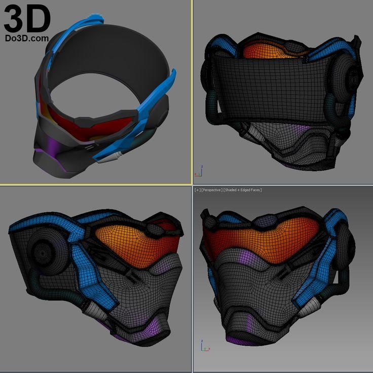 3D Printable Model: Soldier 76 Mask Helmet Overwatch by Do3D.com | Print File Formats: STL OBJ – Do3D.com