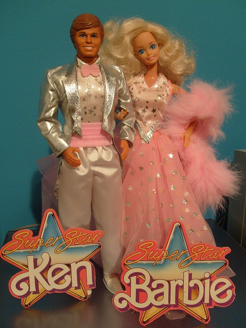 Super Star Barbie & Ken Circa 1989 -by Doll_Collector, via Flickr