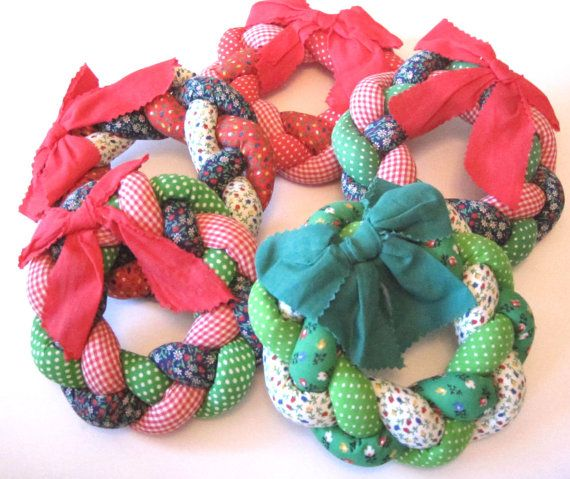 fabric wreaths