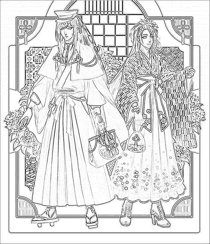 Taroutachi and Jiroutachi Sketch by me.