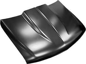 Key Parts 0856-035 Steel Cowl Induction Hood 1999-2002 Chevy Silverado  1999-2002 Chevy Silverado  2000-06 Chevy Suburban/Tahoe  2'' Cowl Scoop