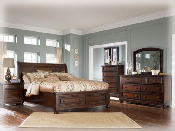 """Our master bedroom set - """"Porter"""" by Ashley Furniture. I have this, love it!"""