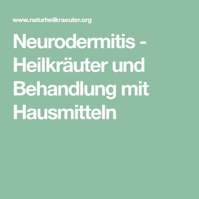 Neurodermitis - Heilkräuter und Behandlung mit Hausmitteln