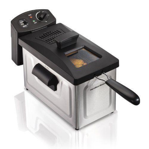 Deep Fryer 12 Cup Oil Capacity Cooking Digital Timer Kitchen Appliances Silver #HamiltonBeach
