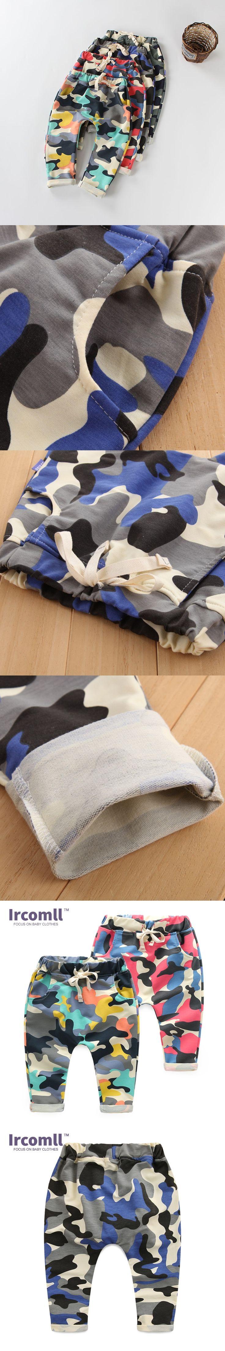 2017 New Children Haren Cotton Camouflage Pants Fashion Outdoor Boys Sport Pants Trousers Patchwork Jogger Pants Kid Clothes