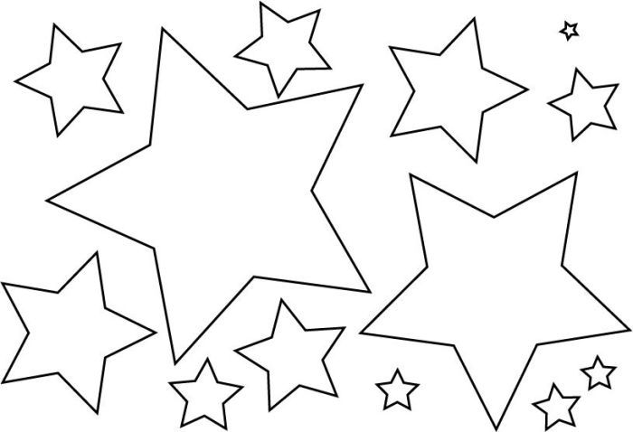 Molde De Estrela 30 Imagens Para Imprimir E Recortar Molde
