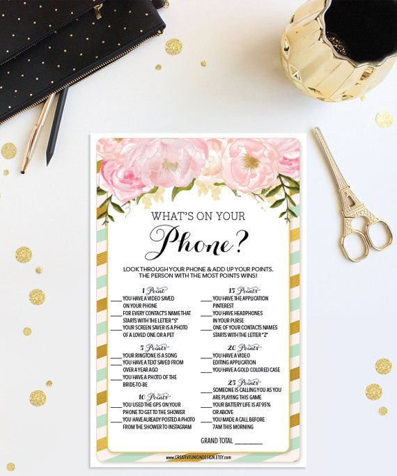 Instant Download Bridal Shower What's On by CreativeUnionDesign