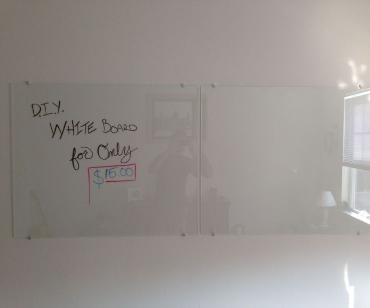 Whiteboards can cost a fortune.  Here is an inexpensive and extremely elegant looking Dry Erase white board for your home or office, only about 15 buc...