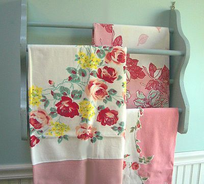 display your vintage tablecloths
