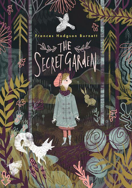 ilustraciones de cuentos infantiles que su madre le leía de niña colocados en cuadros