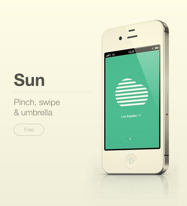 Sun weather app landing page