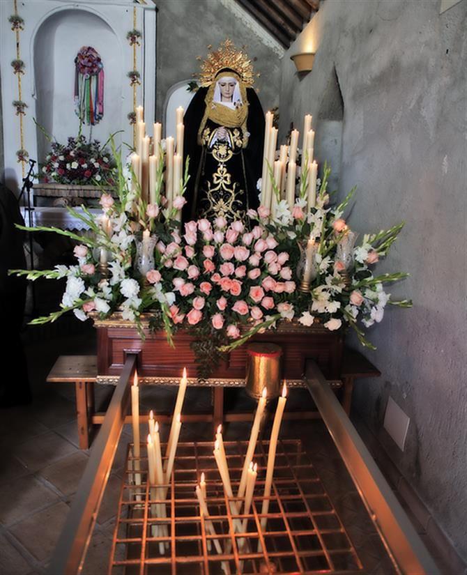 Virgen de los Dolores en la Ermita