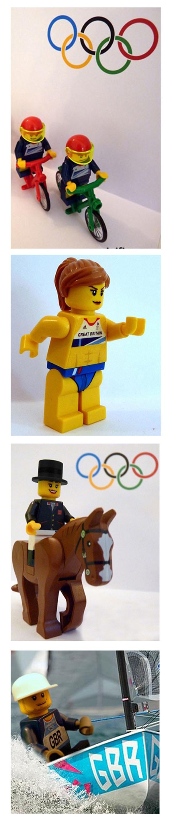 London 2012 Olympics: LEGO minifigs of Team GB gold medal winners