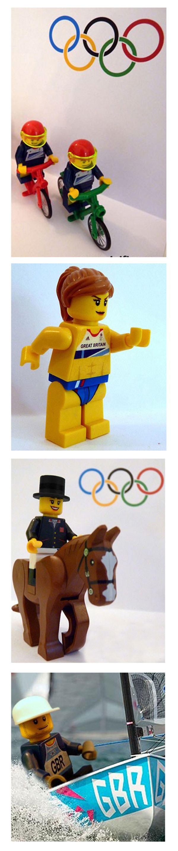 London 2012 Olympics: LEGO minifigs of Team GB gold medal winners
