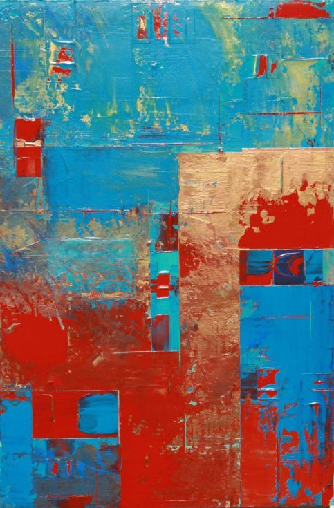 ARTFINDER: Abstract Concept 2 by Robert Lynn - Unframed. Abstract Acrylic Layered Painting (10 Layers). 24 x 36 x 1.5 Gallery Wrapped Canvas. Use of a Pallet Knife. My concept with this painting is a blen...